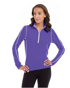Olivia 1/4 Zip Light Jacket-XL-Purple