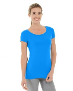 Tiffany Fitness Tee-L-Blue