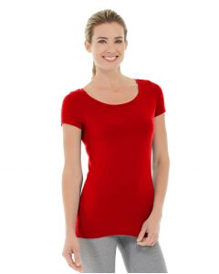 Tiffany Fitness Tee-XL-Red