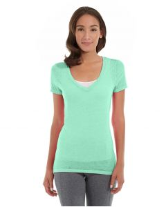 Karissa V-Neck Tee-XL-Green